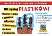 "Obraz opis: Kampania ""Plastik nie do pieca - piec nie do plastiku"""