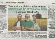 Obraz opis: Konkurs dla rolników - do wygrania bony!